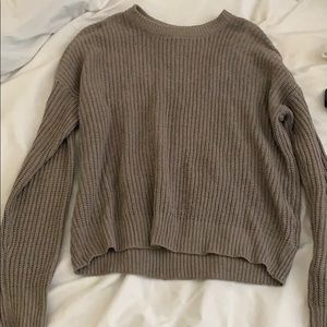 Gray Urban Outfitters crew neck sweater